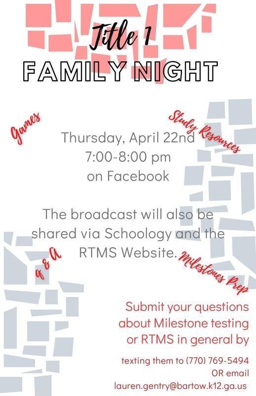 Milestone Parent Night Flyer