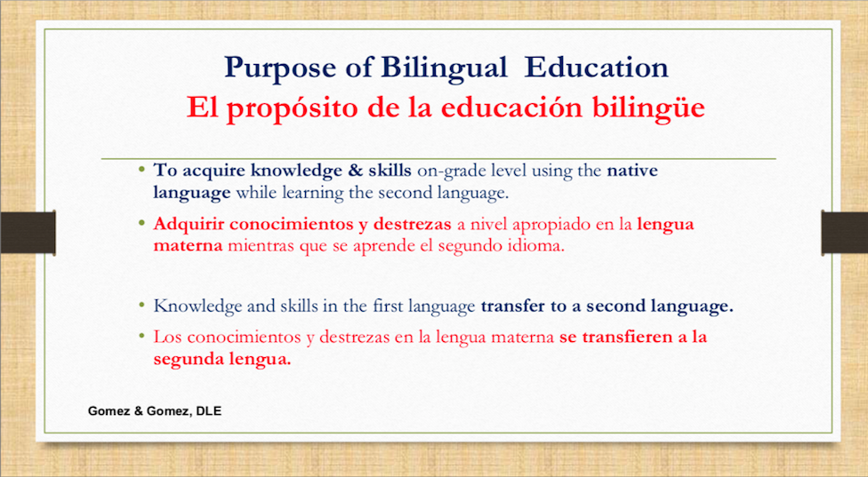 Dual language slide 2