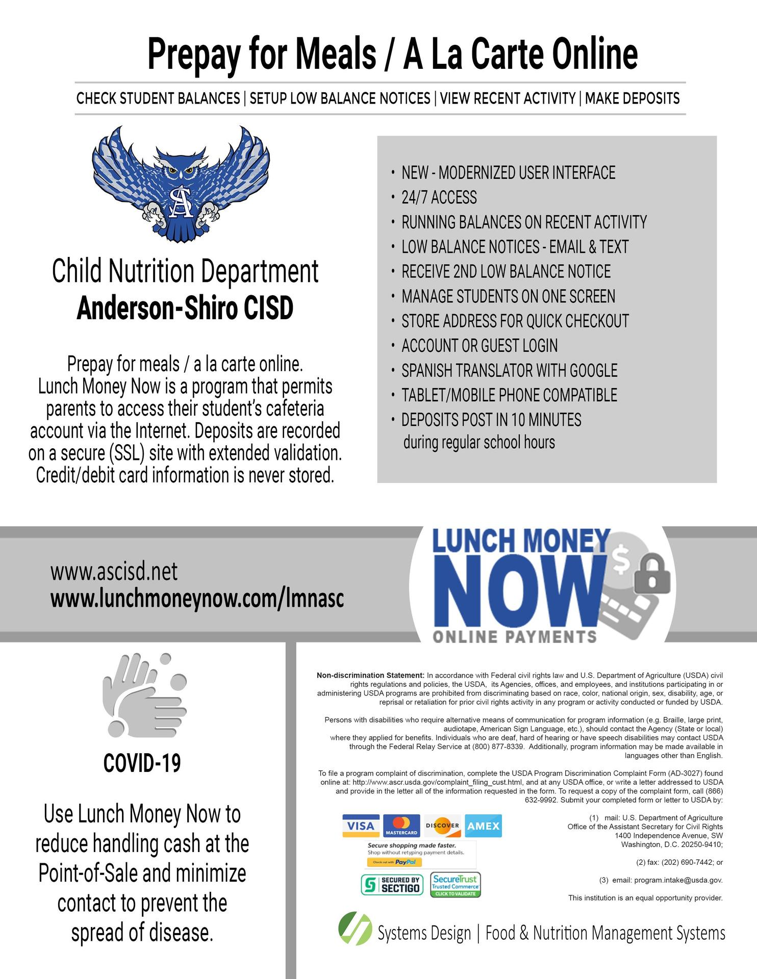 lunch money now flyer