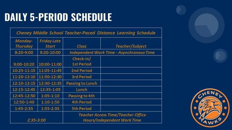 2020-2021 Updated Bell Schedule Thumbnail Image