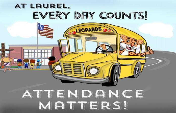 School Building and School Bus Image with title Attendance Matters