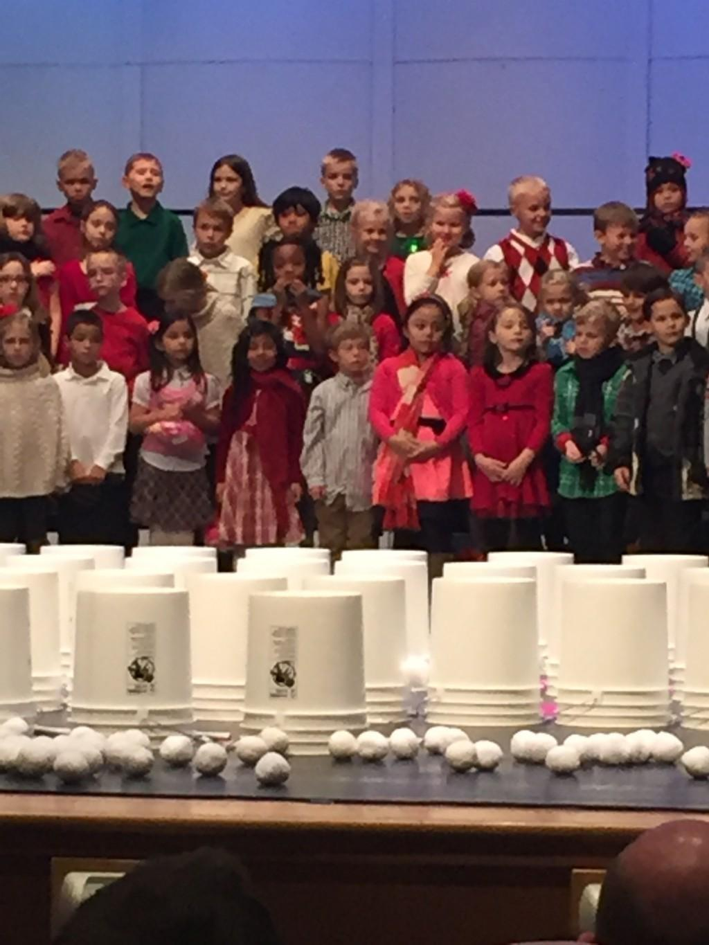kids on stage ready to sing