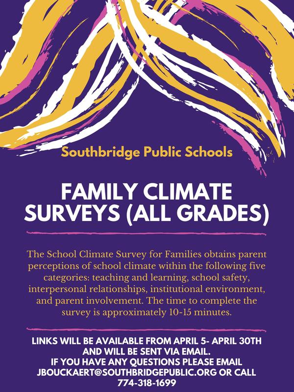 Survey in English for the Culture an Climate survey