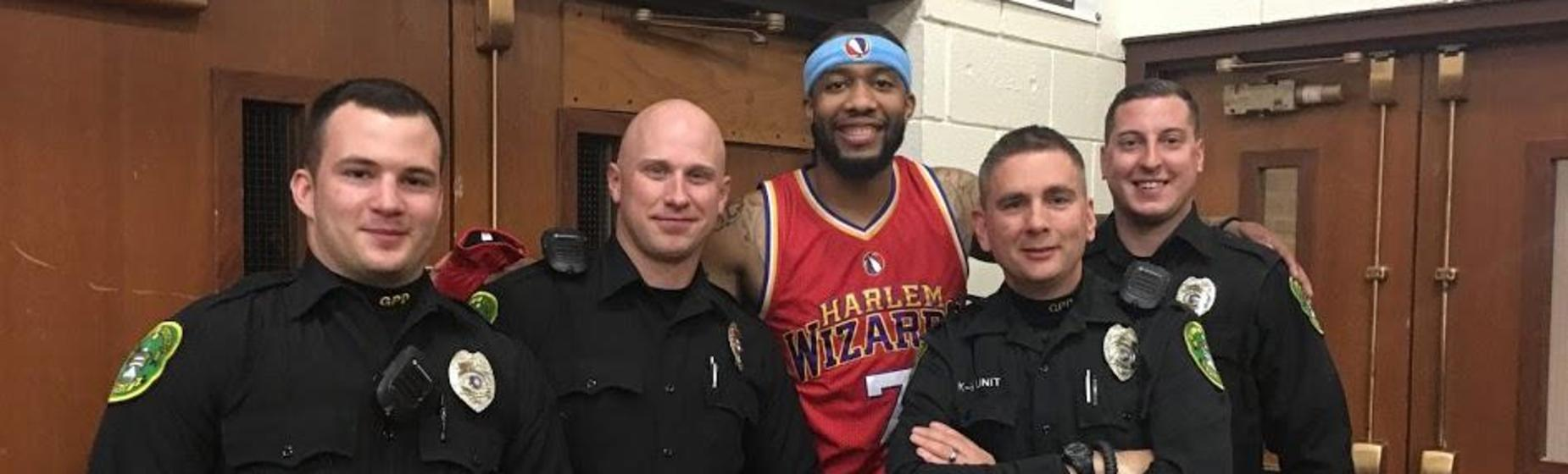 Police with Harlem Wizard