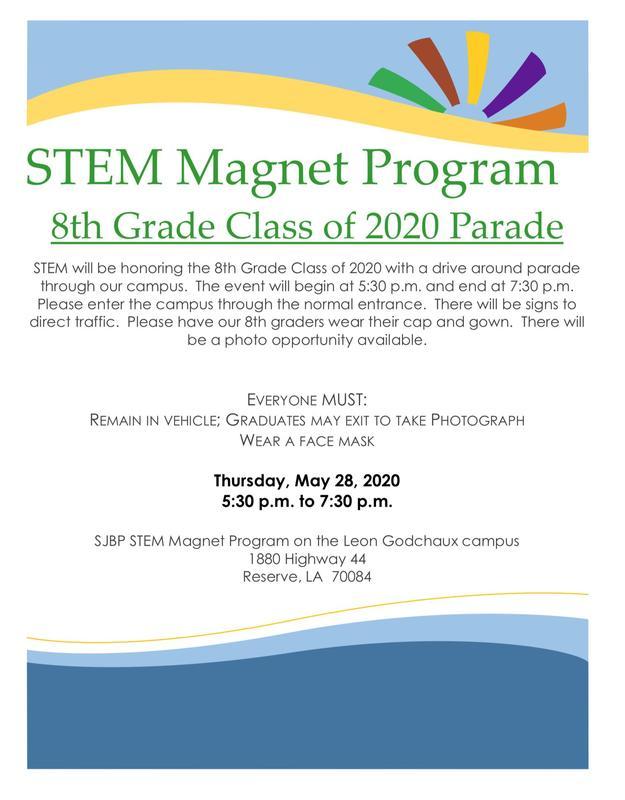STEM Magnet Program 8th Grade Class of 2020 Parade Thumbnail Image