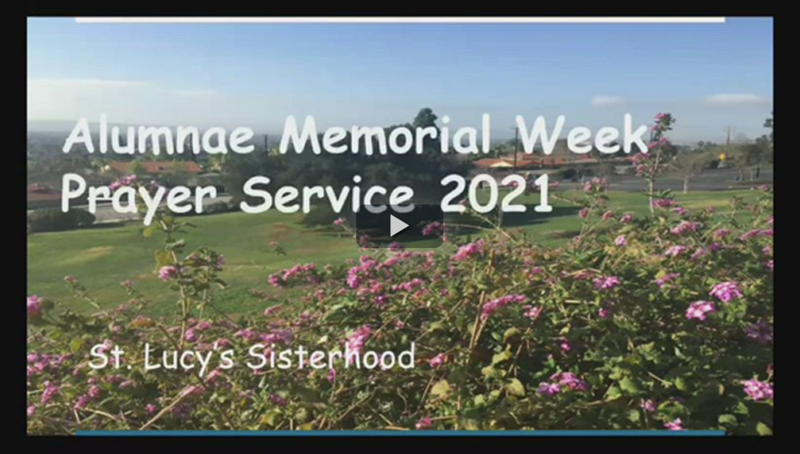 Photo of the Alumnae Memorial Week Prayer Service video