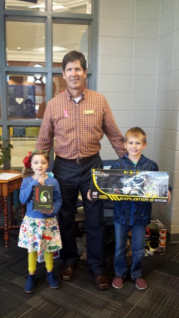 Mr.Kinney and CCPS Fundraiser Winners