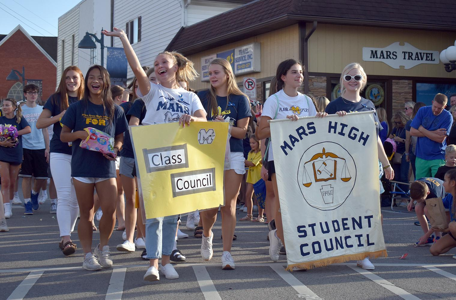 Mars Area High School Student Council Members