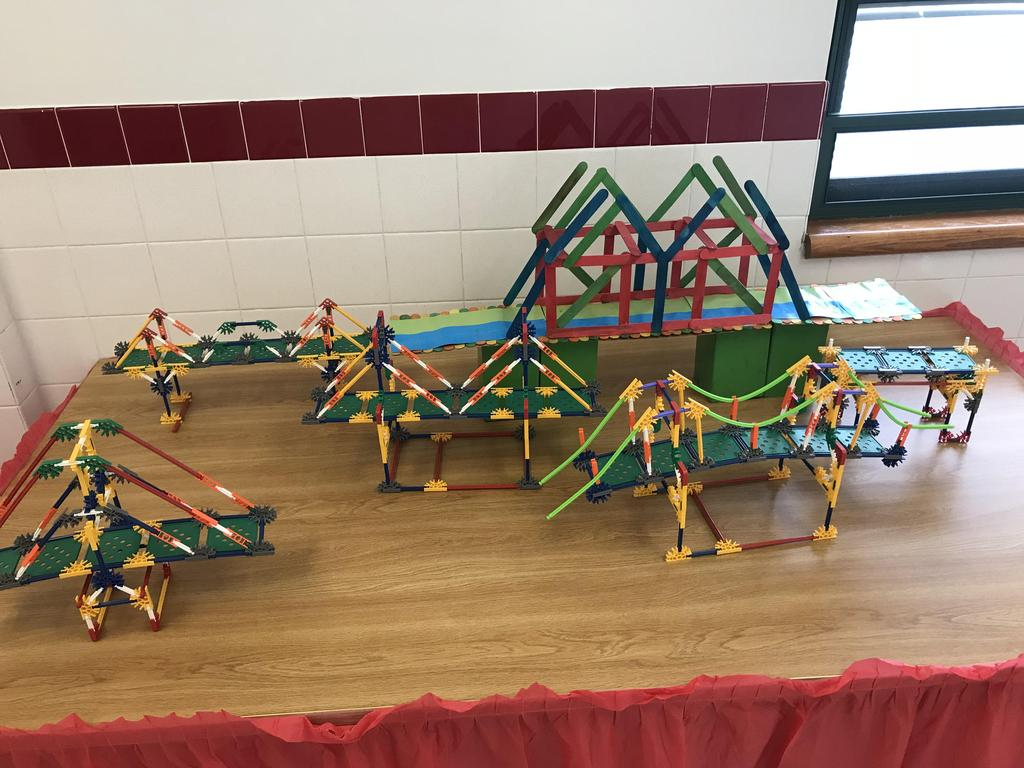 building bridges with legos, and other pieces