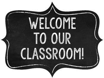 Welcome to Our Classroom!