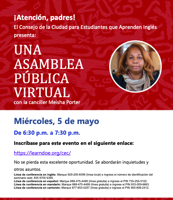 Ayuntamiento virtual con la canciller Porter Featured Photo