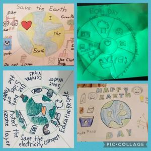 4 Earth day assignments collage