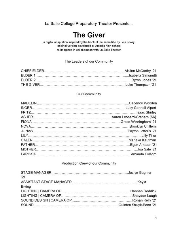 playbill for play
