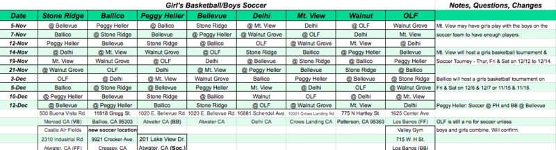 girl bb boys soccer schedule