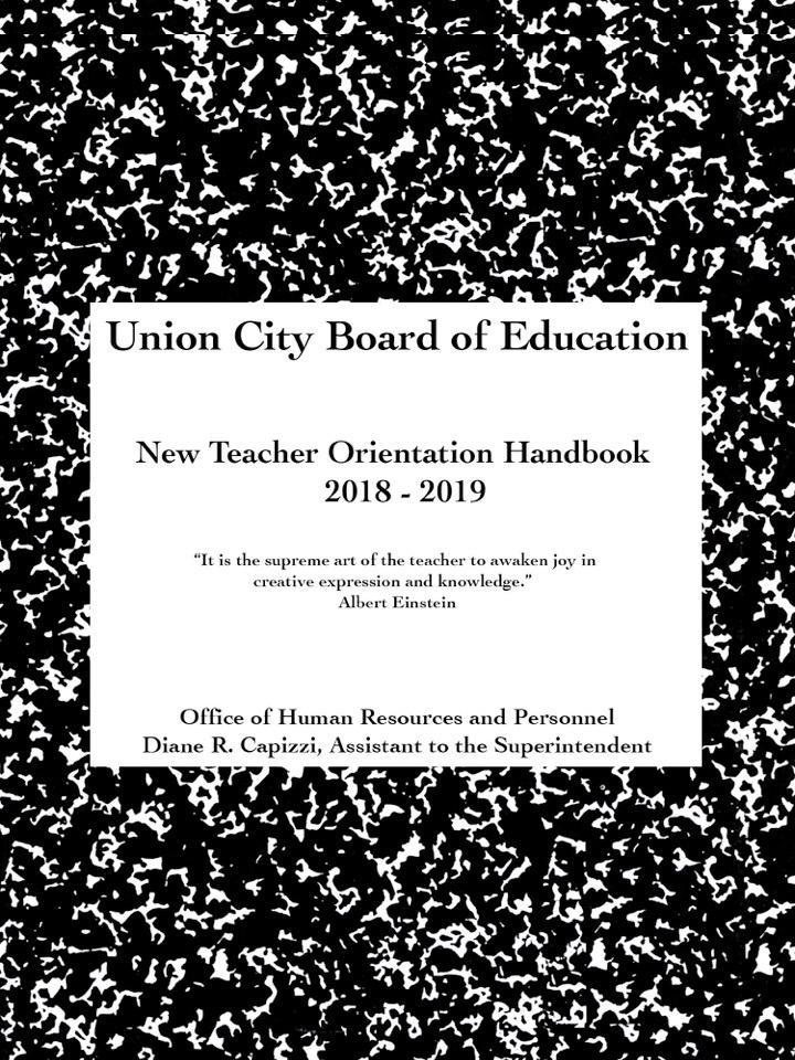 New Teacher Handbook cover