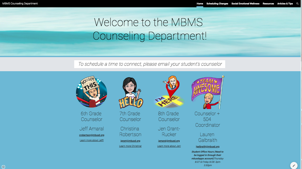Counseling Dept Webpage