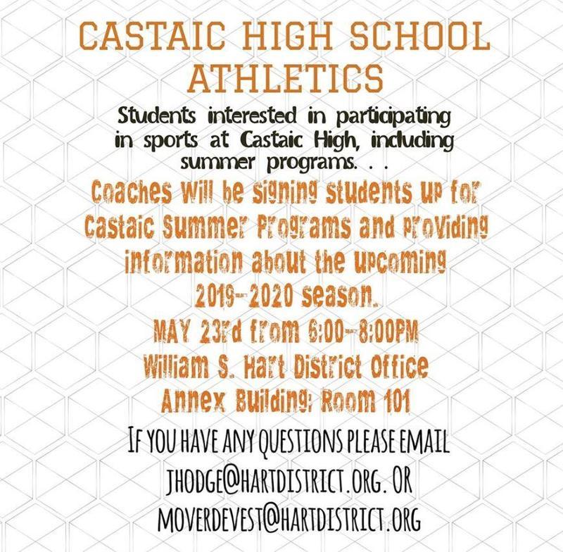 castaic athletics meeting information