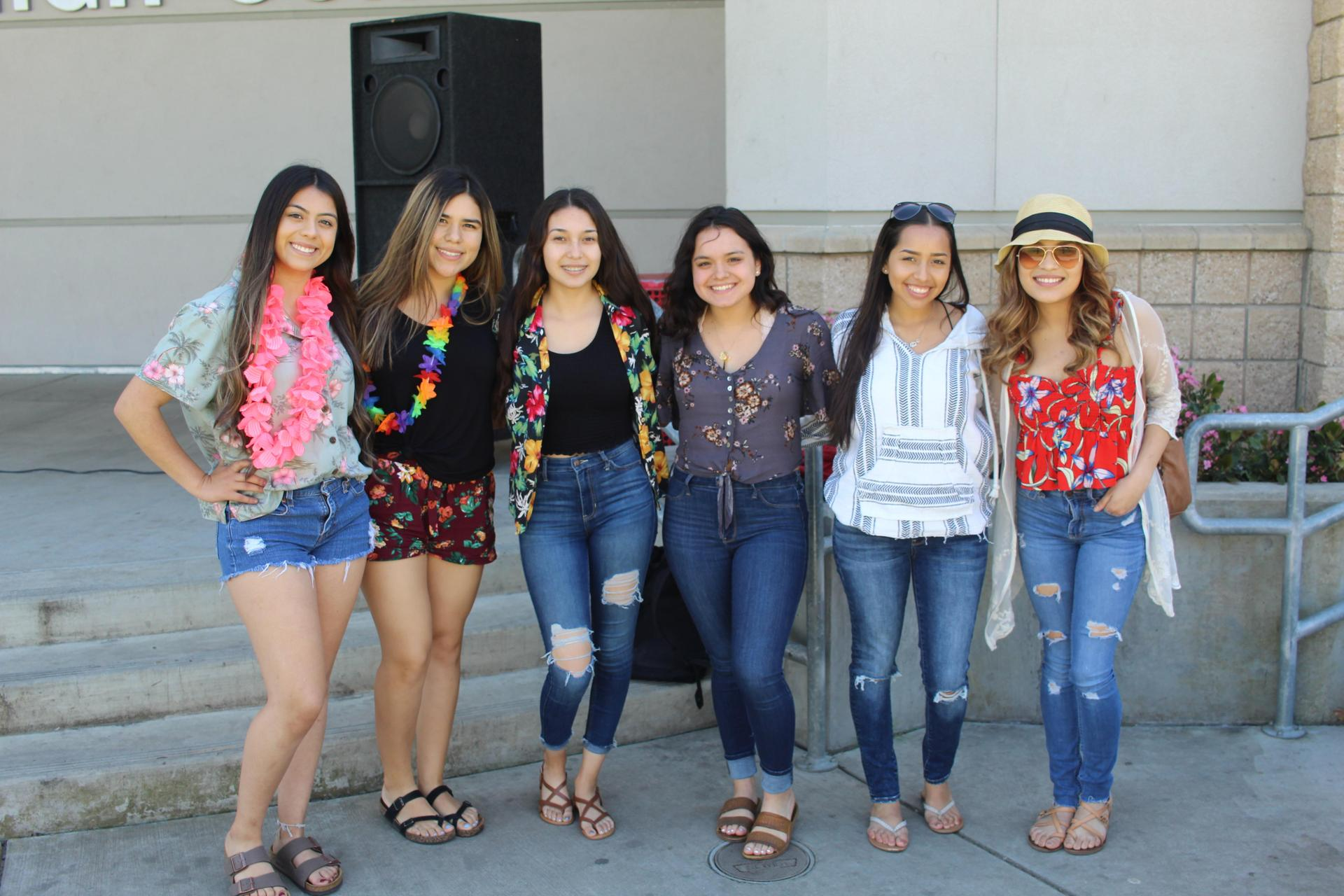 Students dressing up for Spring Week Beach Day