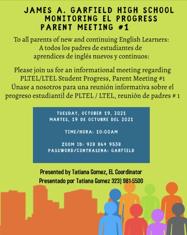 GHS Monitoring EL Progress Parent Meeting #1