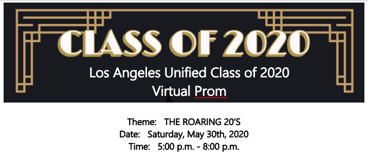 Class of 2020 Virtual Prom Information Featured Photo