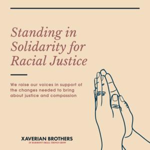 Standing in solidarity for racial justice.