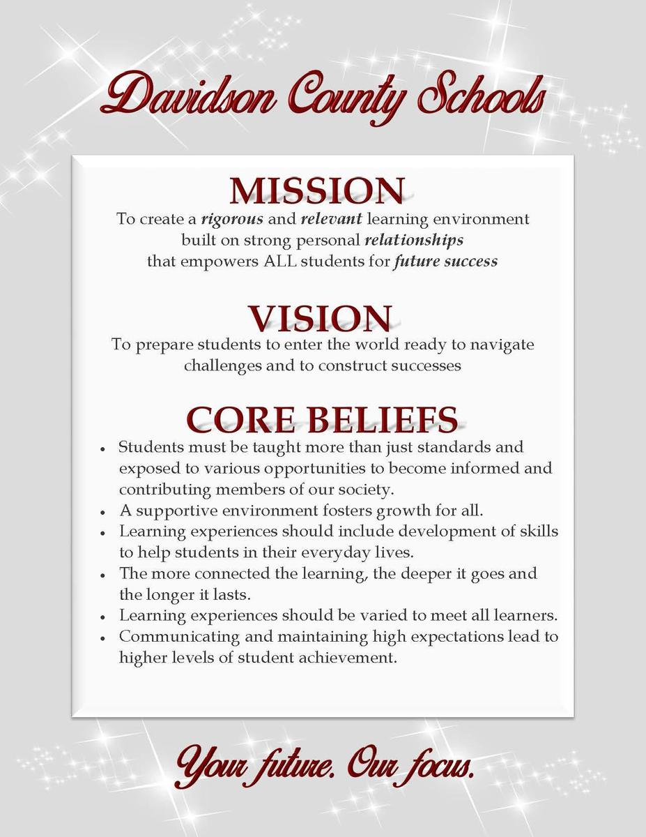 DCS Mission, Vision, and Core Beliefs