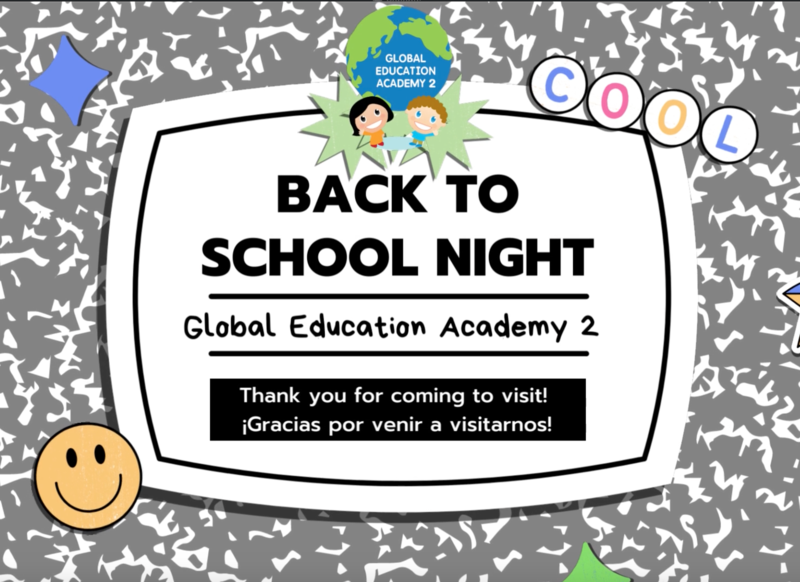GEA 2' Back to School Night Featured Photo