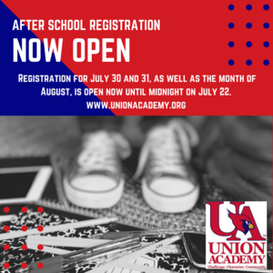 After School Registration now open