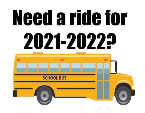 Planning on riding a bus for the 2021-22 school year? Featured Photo