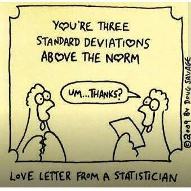 Love Letter from a Statistician: You are 3 standard deviations above the mean