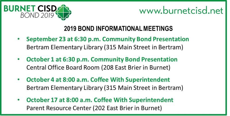 2019 Bond Informational Meetings Thumbnail Image