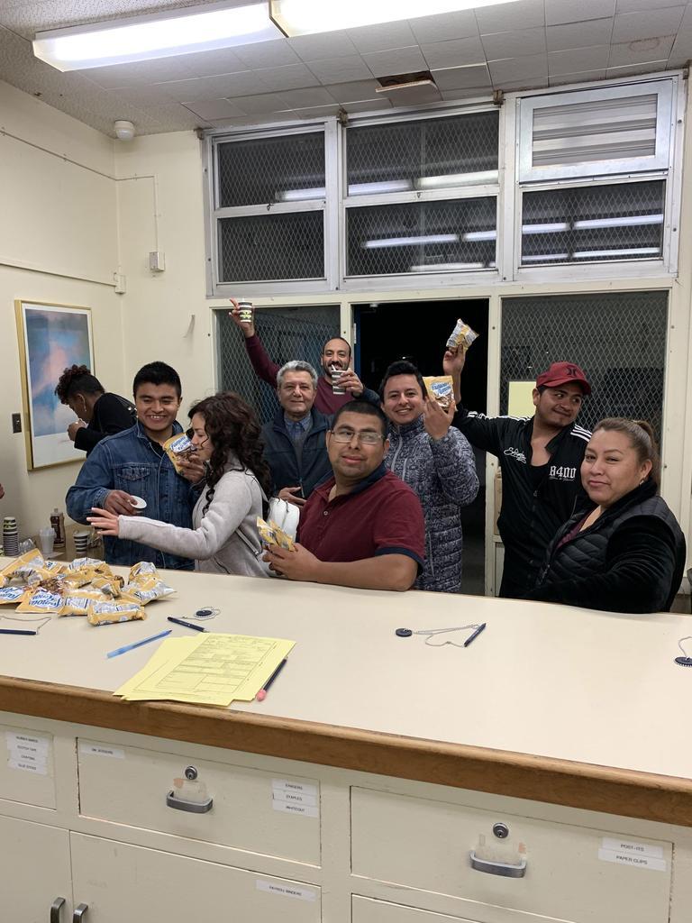 Students at coffee break