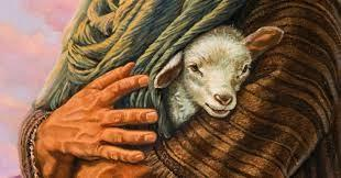 Lamb in the Arms of Jesus