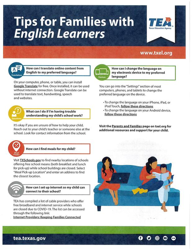 Tips for families with English Learners Thumbnail Image