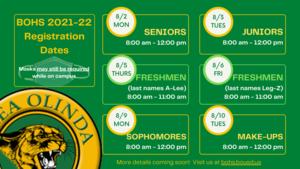 2021-22 registration dates