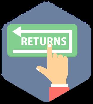 Finger pointing to return sign