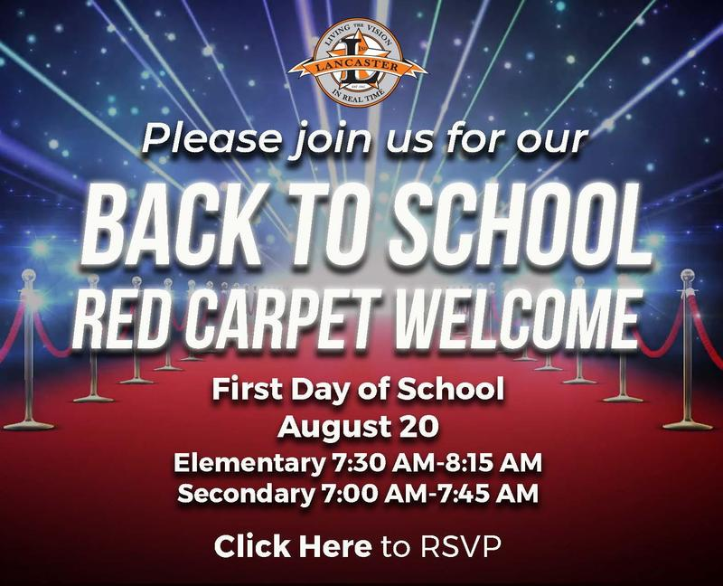 Lancaster ISD Invites You to Volunteer to Participate in the Red Carpet Welcome Thumbnail Image