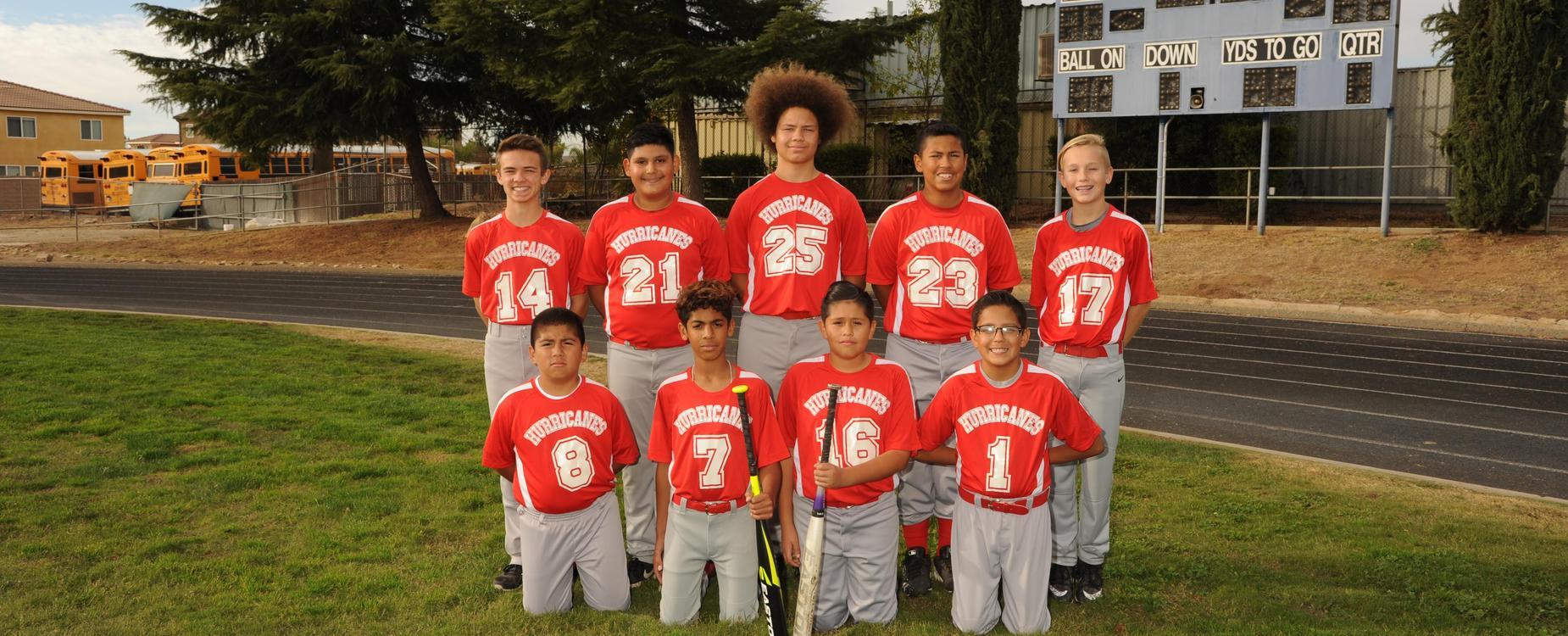 SGMS boys baseball team