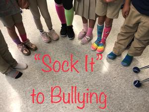 sock it to bullies by wearing crazy socks