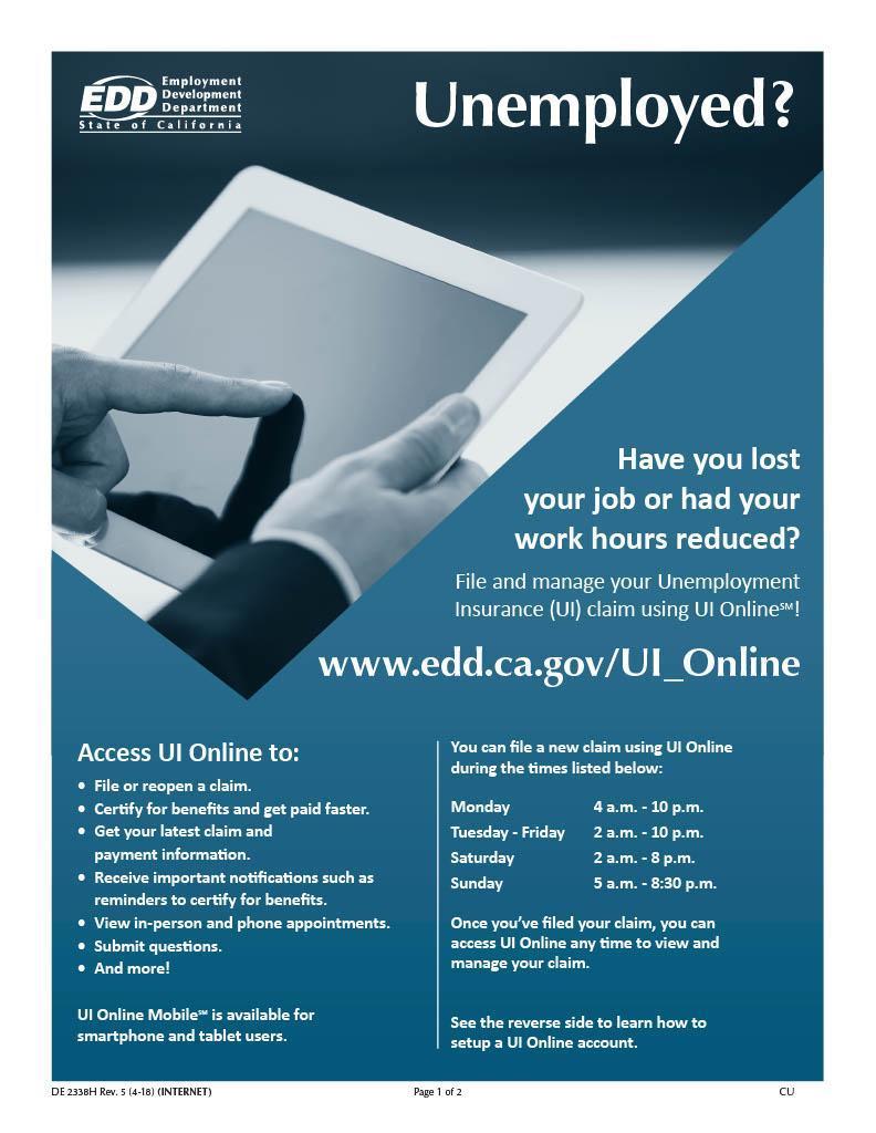 Unemployment Resource Page 1