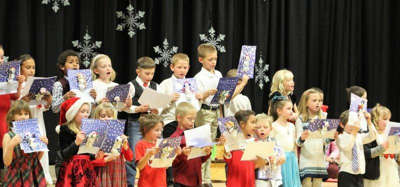 Children singing at Holiday Concert