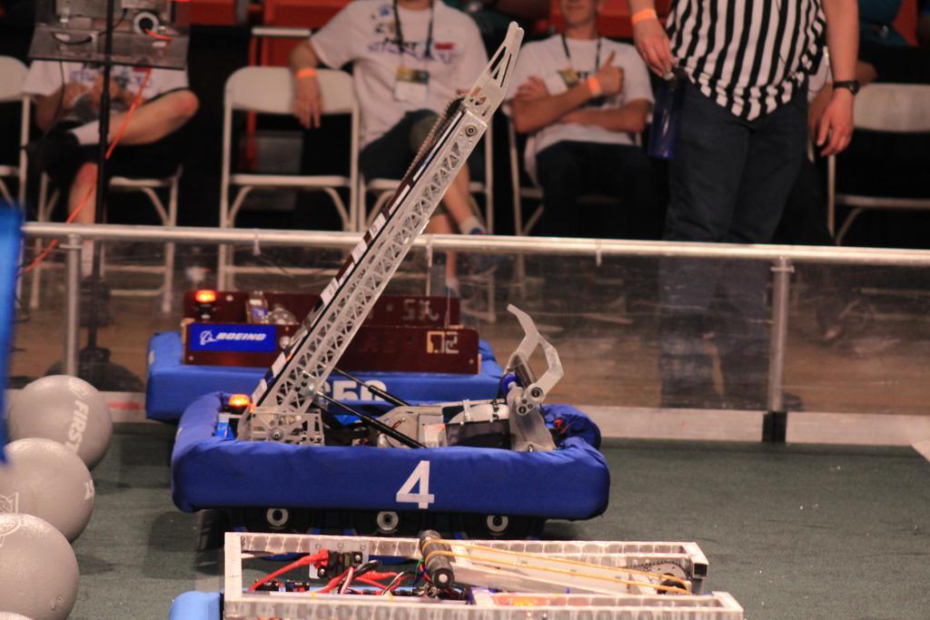 Robot pre-match on field