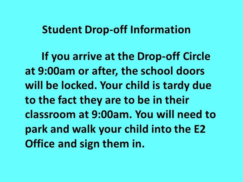 Student Drop-off Information Thumbnail Image