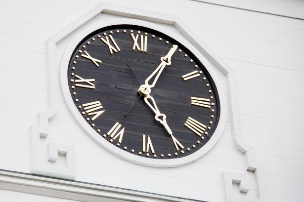 clock face on wall