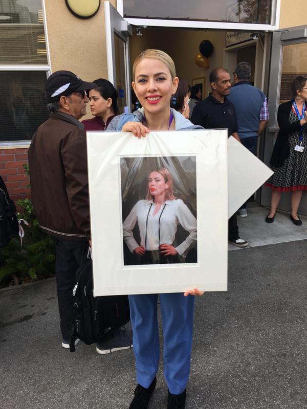 C.A.C.E. student with portrait