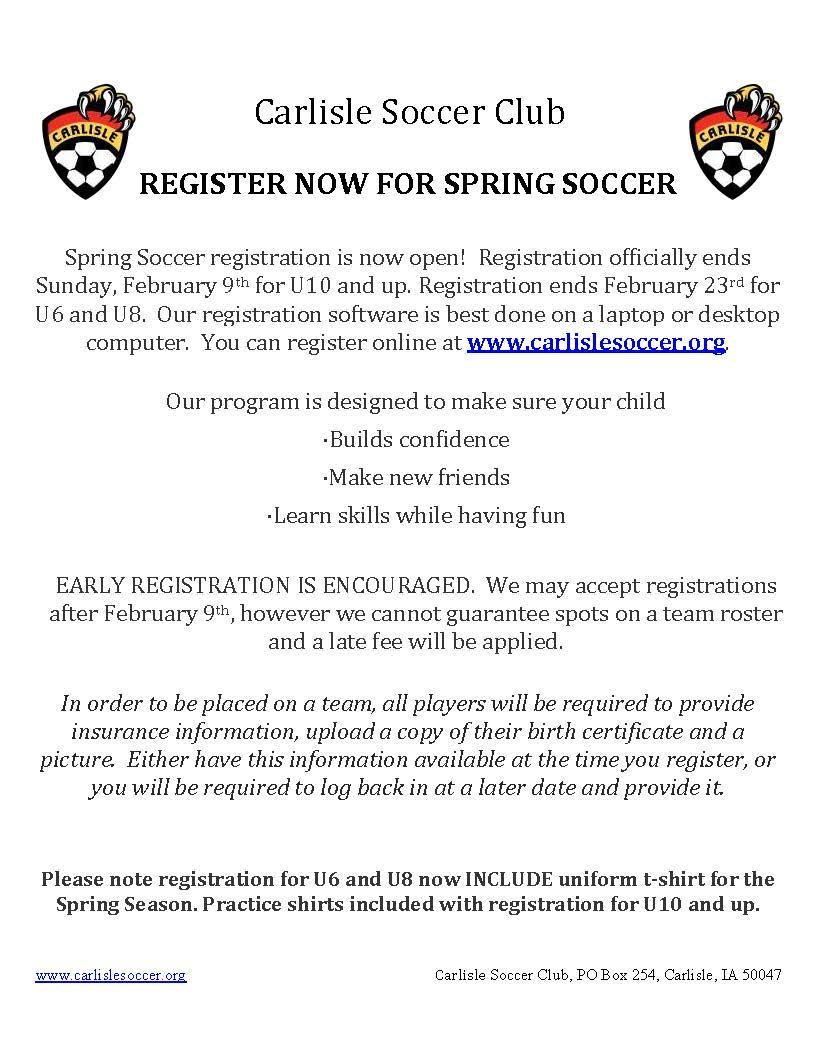 Soccer Club - Spring