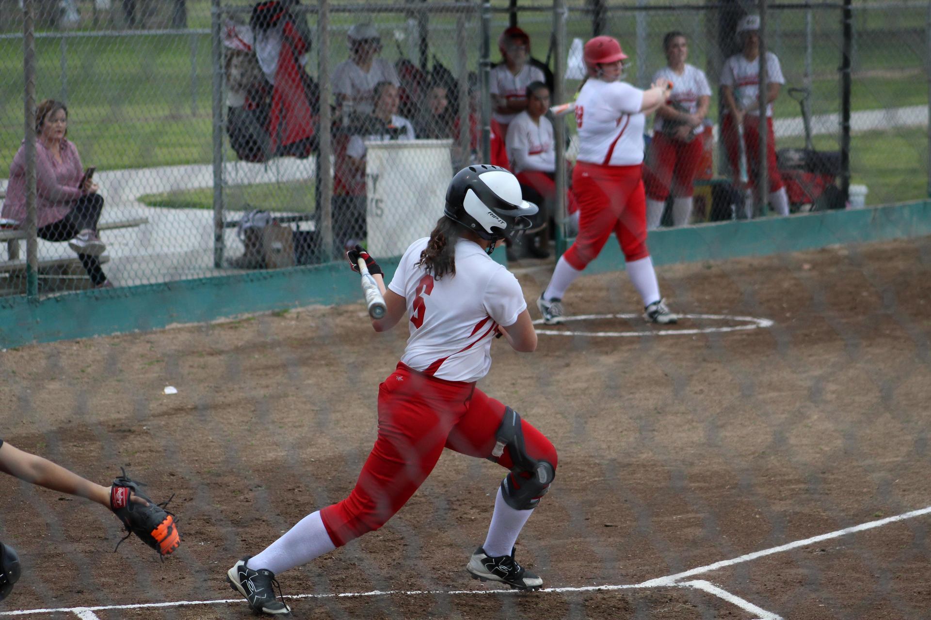 JV Girls playing softball against Sierra Pacific