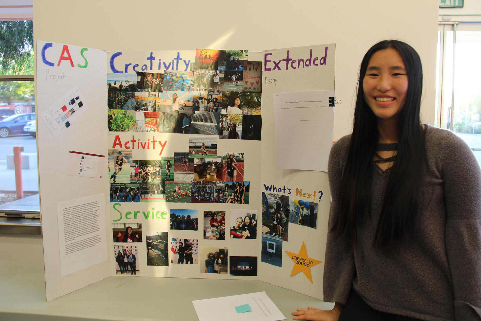 Image of IB Student showcasing her Creativity, Activity & Service experiences
