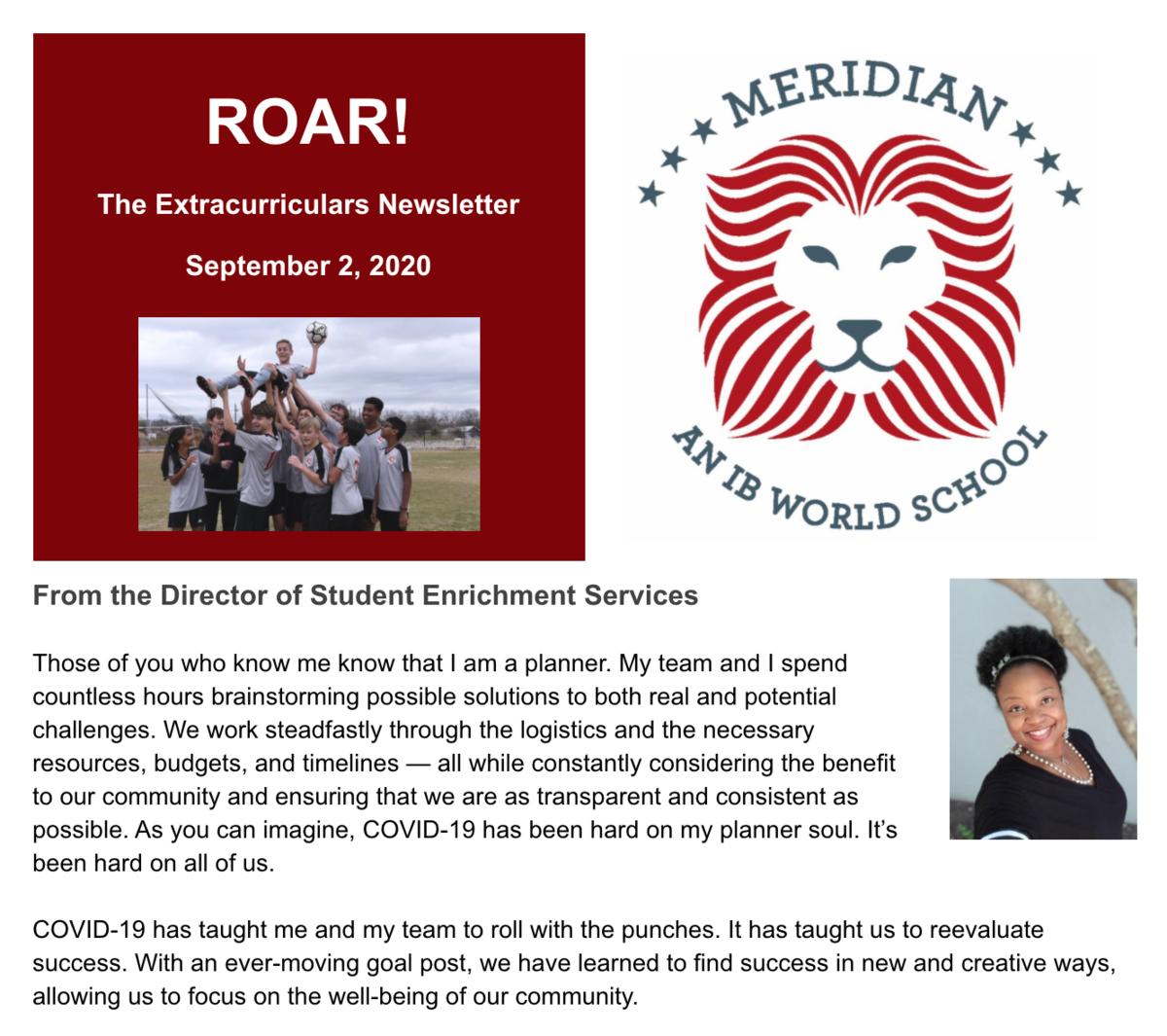 Roar Newsletter