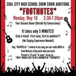 Footnotes Audition - May 10